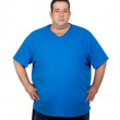 Seriously fat man — Stock Photo #11120387