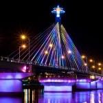 Light Show at Song Han Bridge — Stock Photo