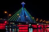 Han River Bridge Color Show — Stock Photo