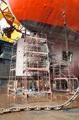 Andamios en la nave de taladro — Foto de Stock