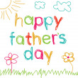 Royalty-Free Stock Imagen vectorial: Card for Father&#039;s Day