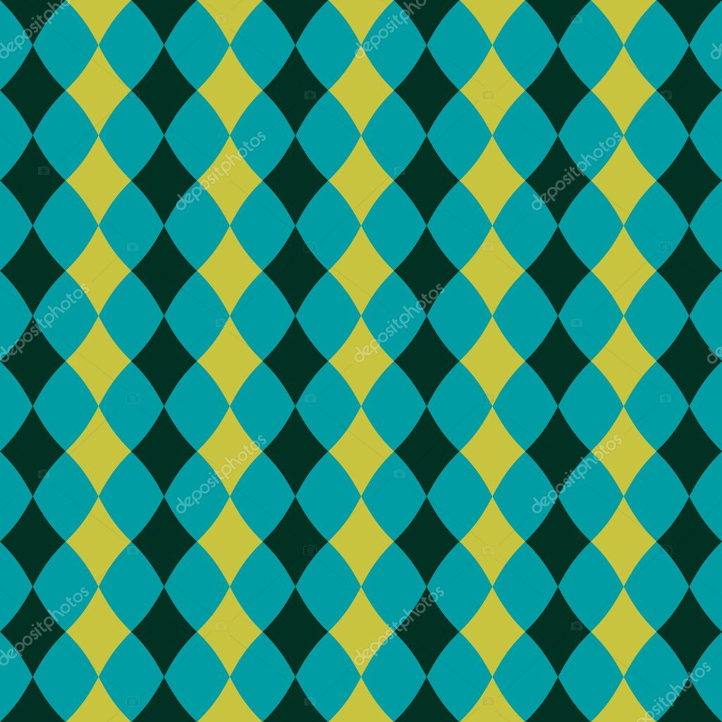 Seamless pattern with blue and green rhombuses — Stock Vector #11017780