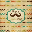 Card with mustache for Father's Day - Stock Vector