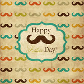 Card with mustache for Father's Day — Vettoriale Stock