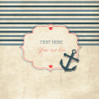 Vintage scrap nautical card — Stock Vector #11408421