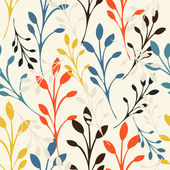 Seamless floral pattern with leaves — Stock Vector