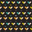 Royalty-Free Stock Vektorfiler: Seamless pattern with hearts