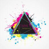 Abstract SMYK triangle — Stock Vector