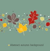Autumnal background on blue — Stock Vector