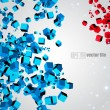 3D abstract chaotic whirl of colored cubes — Stock Vector #11169707