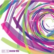 Royalty-Free Stock Vector Image: Full-color abstract scribble background