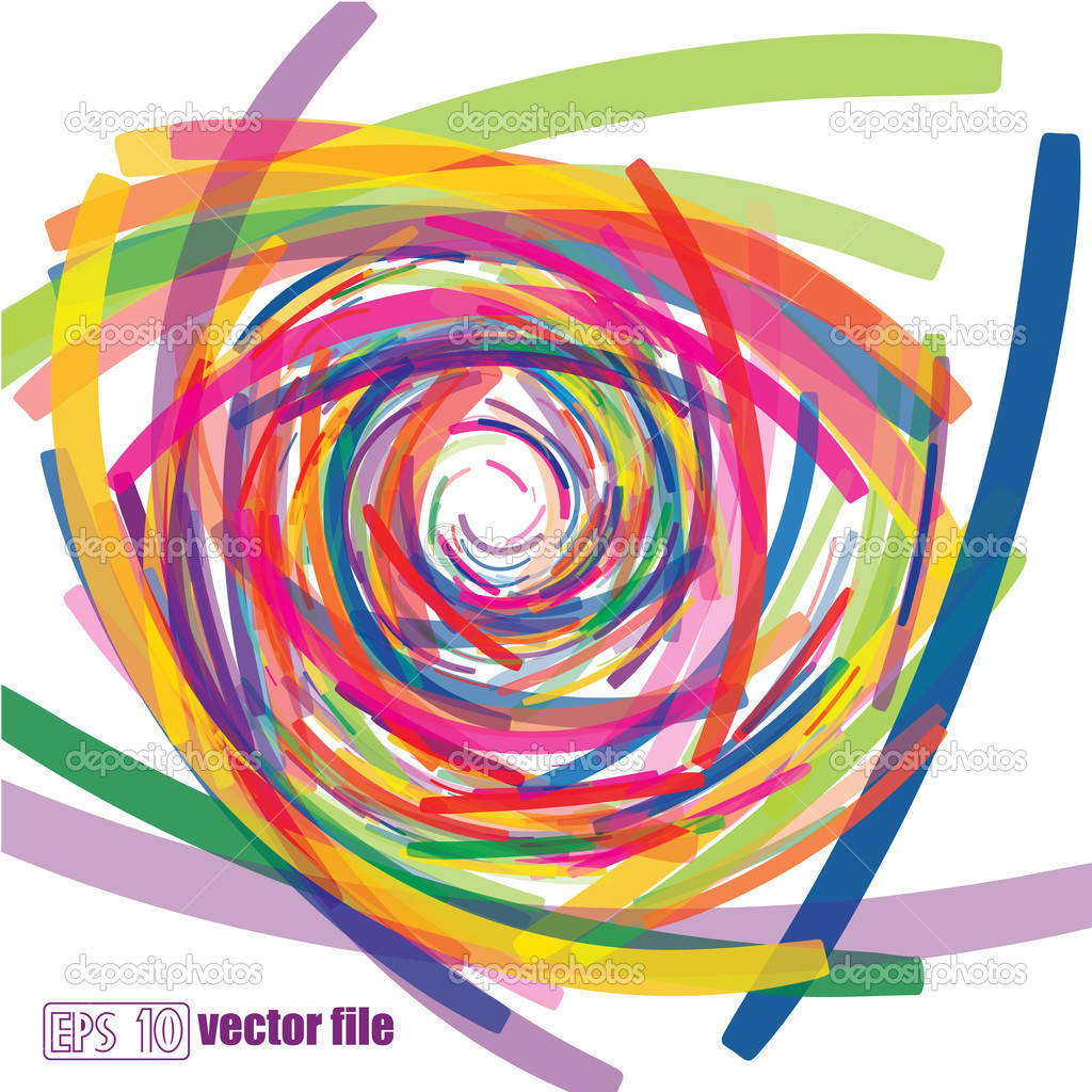 Full-color abstract scribble background vector — Stock Vector #11213700