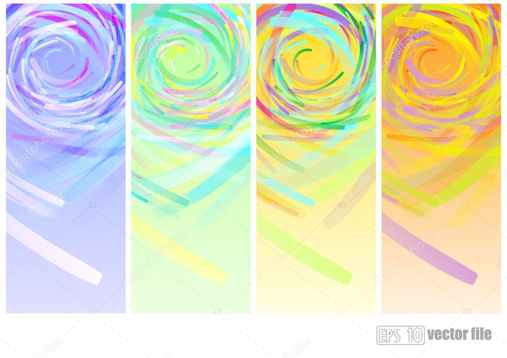 Four Seasonal Backgrounds.  Abstract vector banner — Stock Vector #11243547