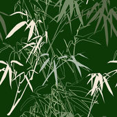 Bamboo Floral seamless pattern background — Stock Vector