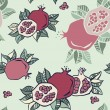 Pomegranate seamless background — Stock Vector