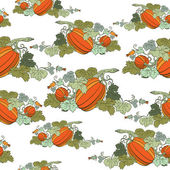 Pumpkin Background seamless pattern — Stock Vector