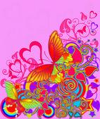 蝶と抽象的な画像 — ストック写真