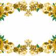 Frame yellow flowers — Stock Photo