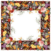 Frame with flowers for photo — Stock Photo