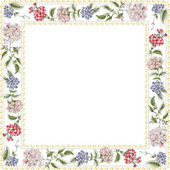 Frame with multi colored flowers for photos — Stock Photo