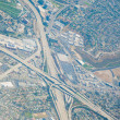 aerial view of highway interchange los angeles — Stock Photo