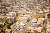 Los Angeles downtown, bird's eye view at sunny day — Stock Photo