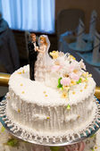 Closeup of wedding cake — Stock Photo