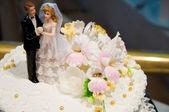 ウエディング ケーキのクローズ アップ — ストック写真