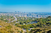Los angeles-wolkenkratzer — Stockfoto
