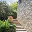 Natural stone stairs landscaping - Stock Photo