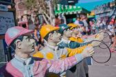 Concrate joker statue — Stock Photo