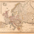 Antique vintage europe map — Stock Photo