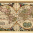 Antique world map — 图库照片