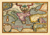 Vintage mediterranean map — Stock Photo