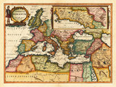 Vintage antique roman empire map — Stock Photo