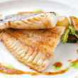Grilled brill fish. - Stock Photo