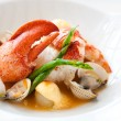 Lobster with shellfish. — Stock Photo
