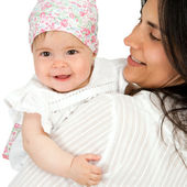 Mother with baby daughter. — Stock Photo