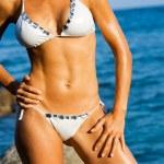 Постер, плакат: Attractive female body tan