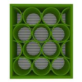 Estantes vacíos verdes redondeadas — Foto de Stock
