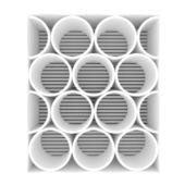 Prateleiras vazias de brancas arredondadas — Foto Stock