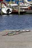 Rowing Oars — Stock Photo