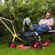 Lawnmower nap — Stock Photo #12071653