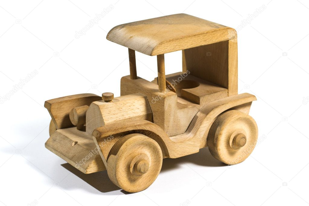 Wooden Toy Car Old toy car made of wood