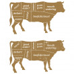 Barbecue Cow Butcher\u2019s Chart