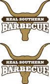 Real Southern Barbecue Symbol — Stok Vektör