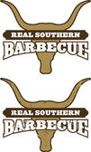 Real Southern Barbecue Symbol — Stock Vector