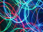 Varicoloured circles from garland — Stock Photo