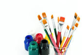 Pincéis de pintura do artista — Fotografia Stock