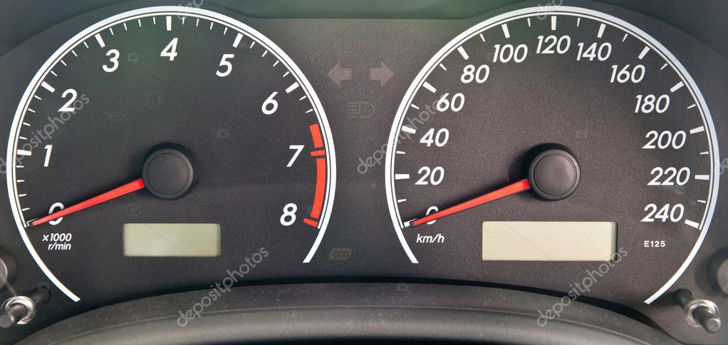 Car dashboard — Stock Photo #10878528